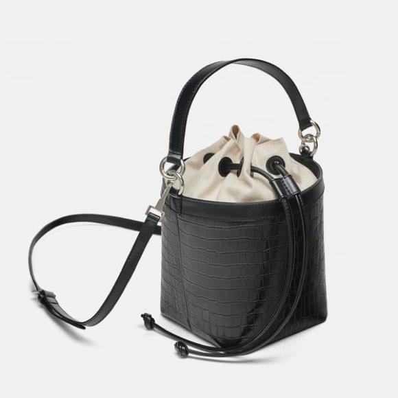 Zara Handbags - Zara croc cube bag